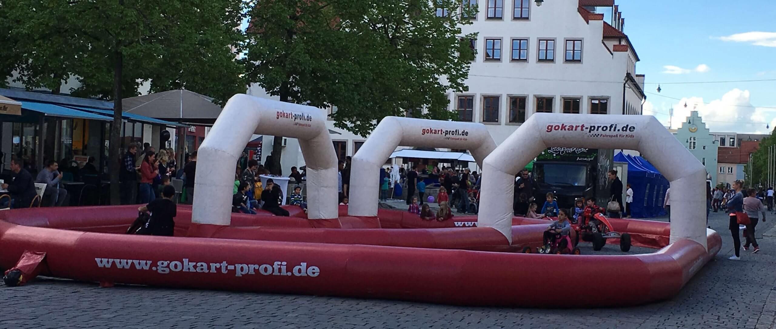 GOKART PROFI Mobile Gokartbahn - Nacht der Sinne in Neumarkt - gokart-profi.de