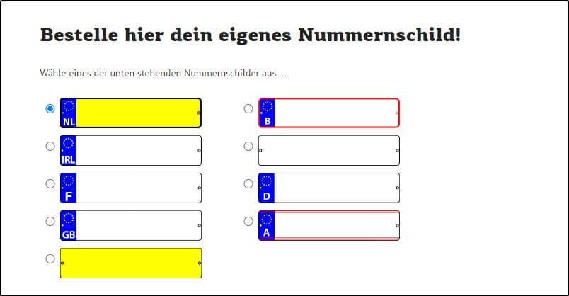 MY GOKART - Kennzeichen fürs Kettcar - Bestellvorgang - Ratgeber gokart-profi.de