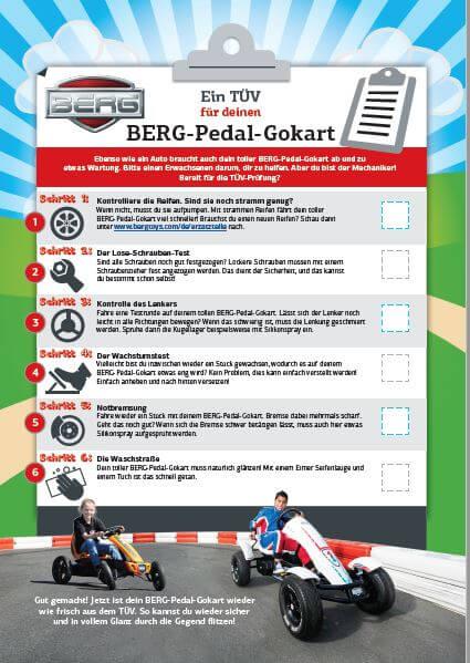 Gokart Check - BERG TÜV für Pedal-Gokart - gokart-profi.de Technik Tipps Kettcar
