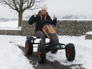 Schnee räumen per Gokart - Schnee Spaß bei gokart-profi.de