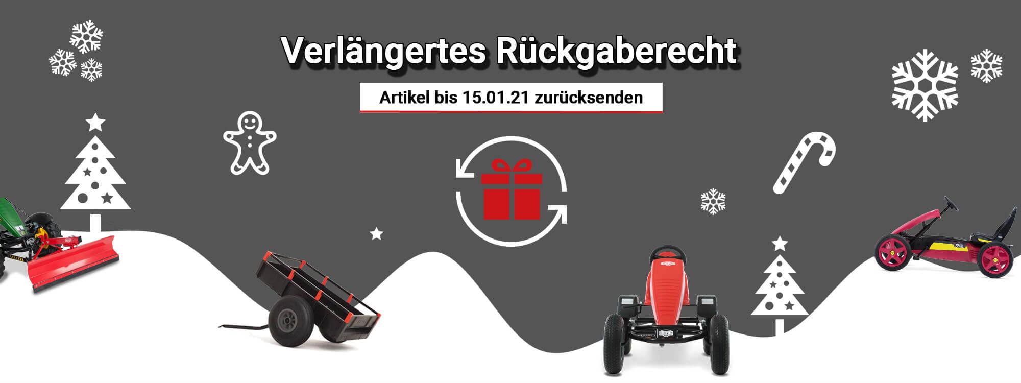 Verlängertes Rückgaberecht - Weihnachten - gokart-profi.de