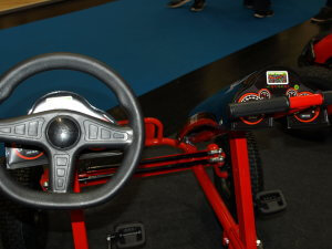 Dino Cars Messeneuheiten 2017 - Dino Twin F Zweisitzer - Cockpit - Foto gokart-profi.de Spielwarenmesse Nürnberg