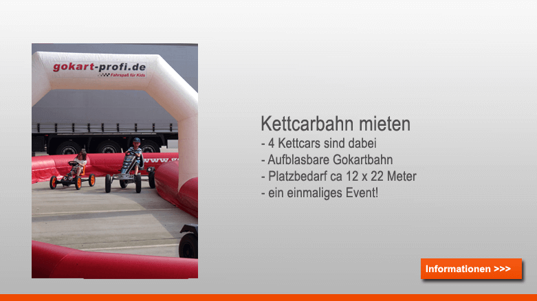 mobile Gokartbahn mieten bei gokart-profi.de Nürnberg - Deutschland weit im Einsatz!