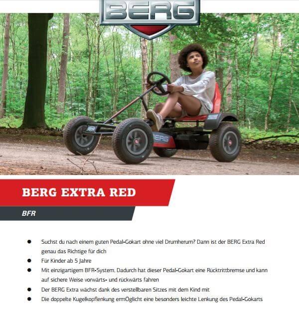 BERG Extra BFR Red - jetzt als Neuheit bei gokart-profi.de