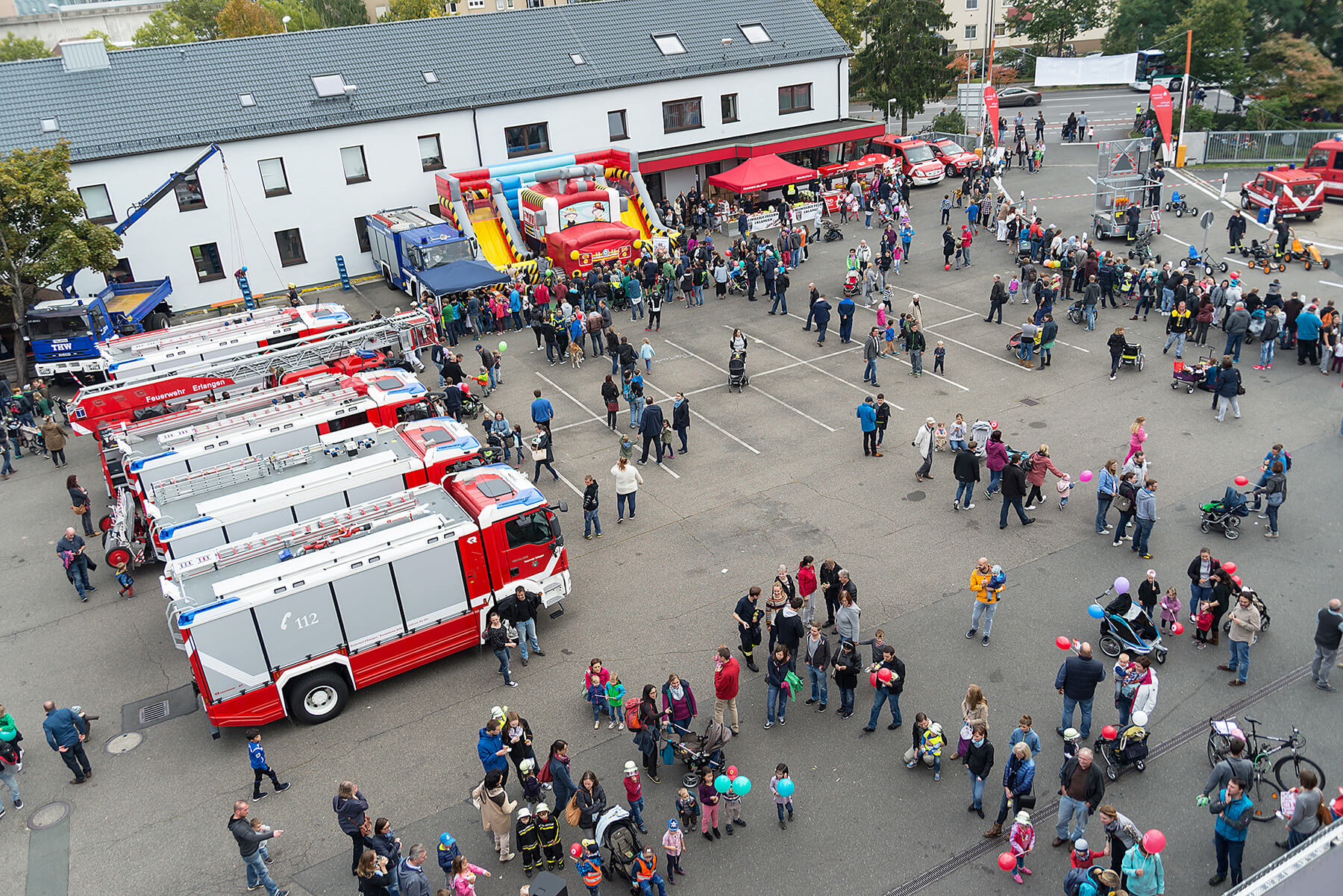 Feuerwehr Erlangen - Tag der offenen Tür 2017 - gokart-profi.de Kettcar Verleih