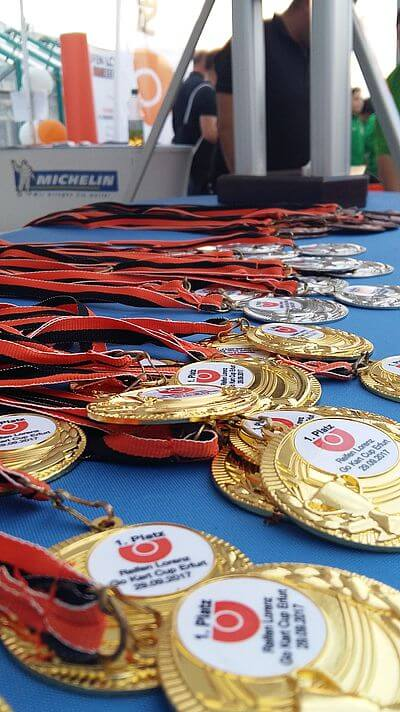 Reifen Lorenz Go Kart Cup - Medaillen - gokart-profi.de Verleih der mobilen Gokartbahn