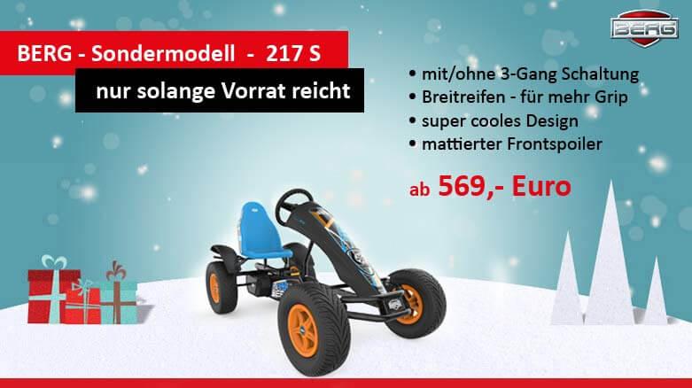 Top 5 Weihnachtsgeschenk-Ideen auf Rädern - BERG 217s Sondermodell- kaufen auf gokart-profi.de