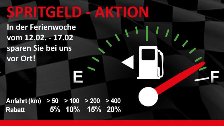 Spritgeld in den Faschingsferien - Aktion bei gokart-profi.de