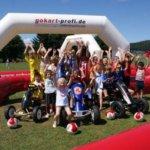 Mobile Gokart-Rennstrecke on Tour: Sommerfest 2018 bei der Spedition EMONS - gokart-profi.de