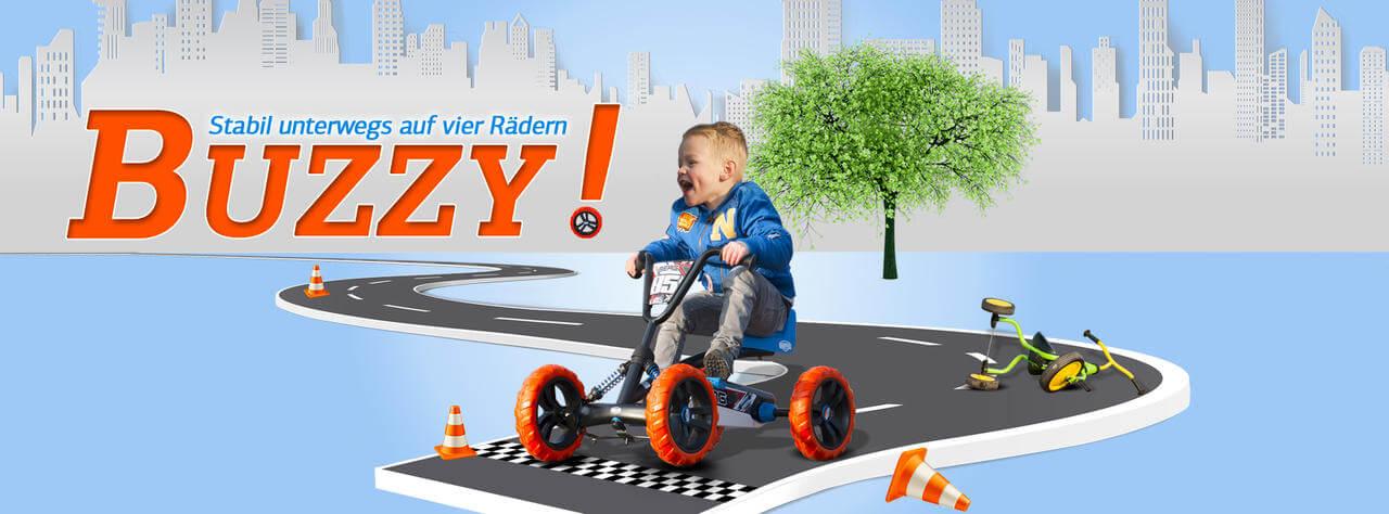 Besser als ein Dreirad: BERG Buzzy ist stabil auf vier Rädern - gokart-profi.de Ratgeber