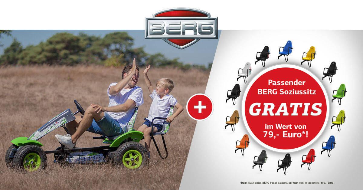 BERG Pedal-Gokart mit gratis Soziussitz 2018 - gokart-profi.de Mai