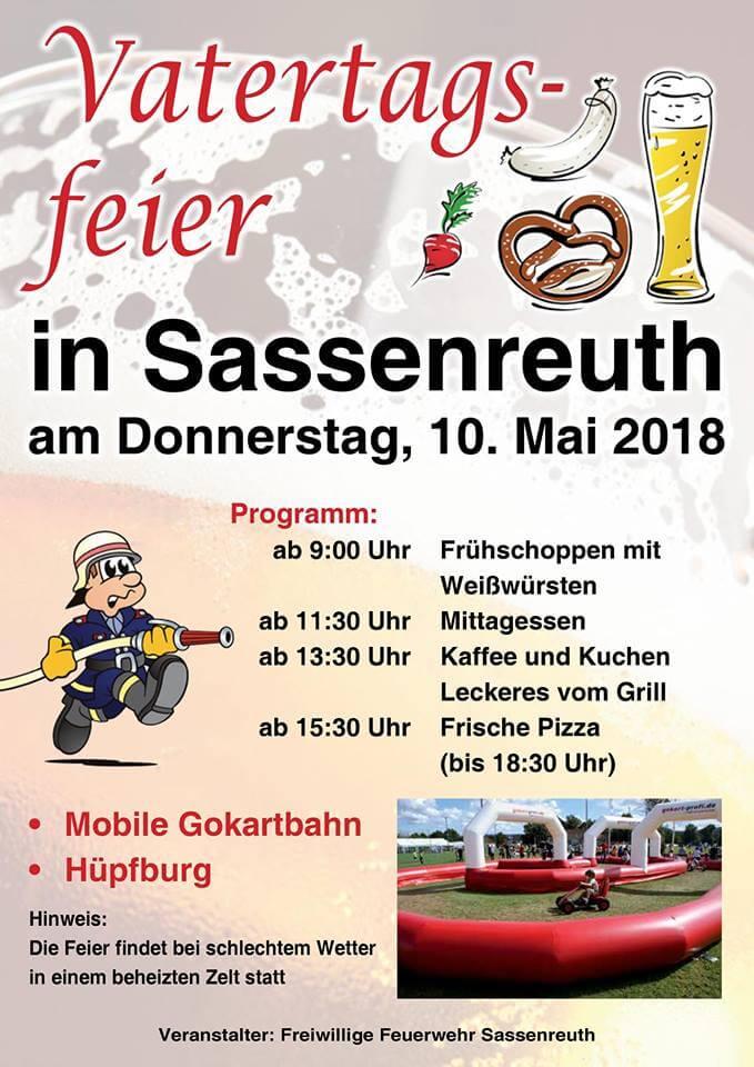 Feuerwehr Sassenreuth feierte Vatertag mit der mobilen Gokartbahn gokart-profi.de