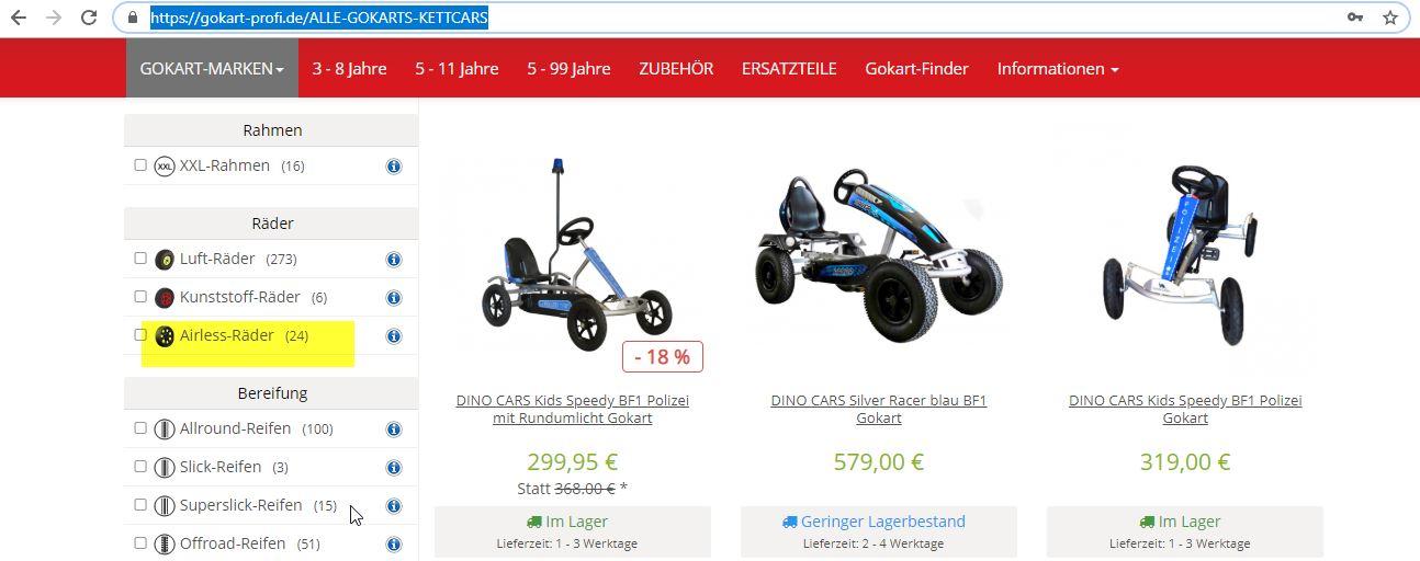 EVA-Bereifung - Airless Räder - Erklärung gokart-profi.de