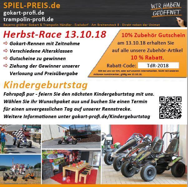 Vorankündigung: 13.10.2018 Herbst-Race bei gokart-profi.de