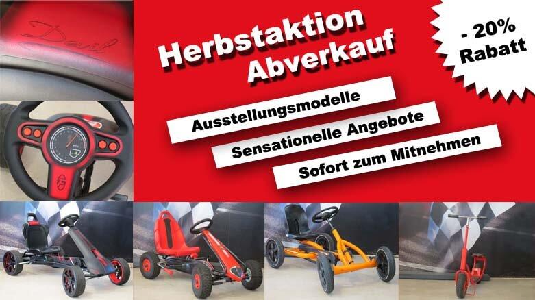 HERBST GOKART ABVERKAUF unserer Ausstellungsmodelle - gokart-profi.de