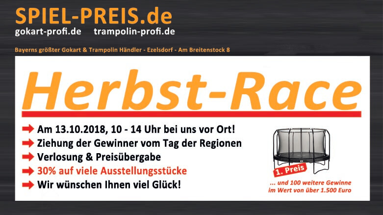 Vorschau HERBST RACE - 13.10.2018 - bei gokart-profi.de