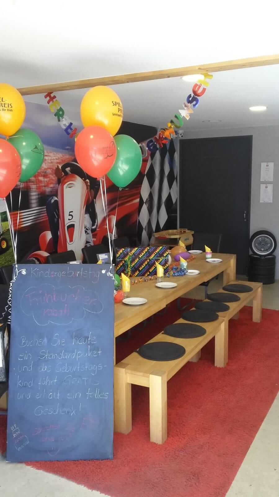 """Rückblick """"Tag der Regionen"""" - Infostand Kindergeburtstag bei gokart-profi.de"""