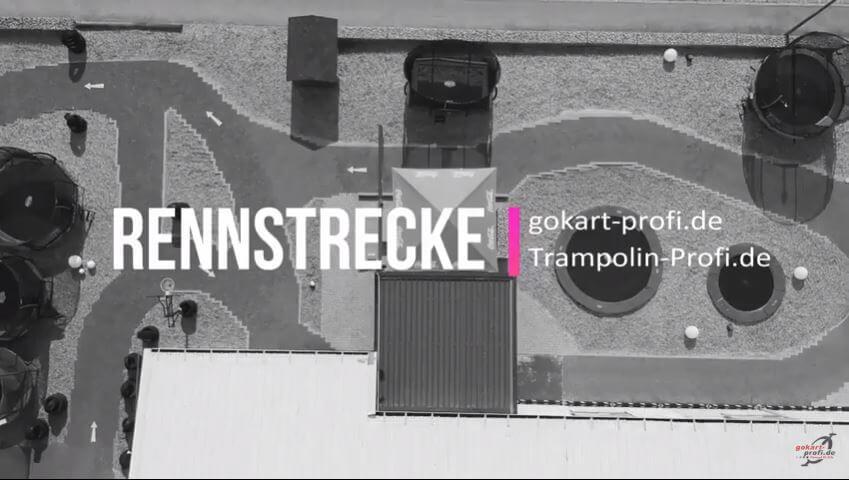 GOKART PROFI Video: mit Drohne auf dem Kettcar Parcours