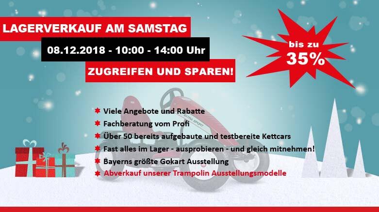 Lagerverkauf bei GOKART PROFI zu Weihnachten 2018