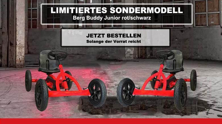 Sondermodell BERG Buddy Rot Schwarz NUR bei gokart-profi.de