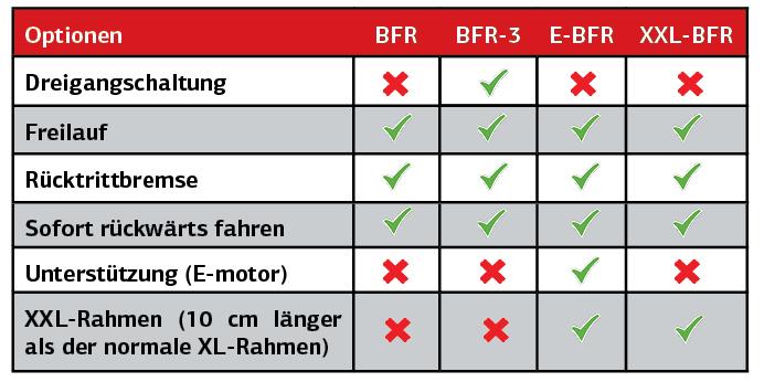 GOKART PROFI TECHNIK: Unterschiede beim BERG Antrieb