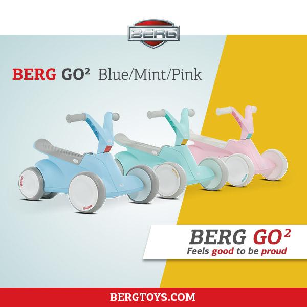BERG GO² - erhältlich in drei Farben bei gokart-profi.de
