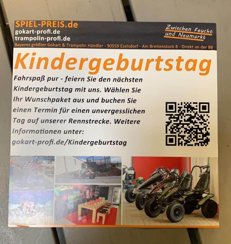 Kindergeburtstag mit 10 Prozent Rabatt auf der Freizeitmesse Nürnberg - gokart-profi.de