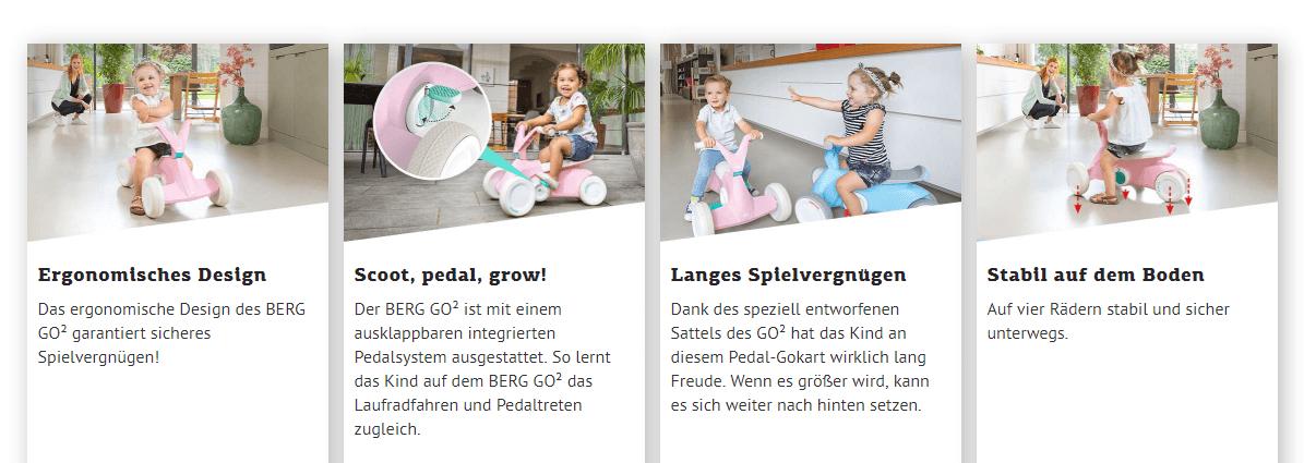 BERG Go² Vorteile - gokart-profi.de