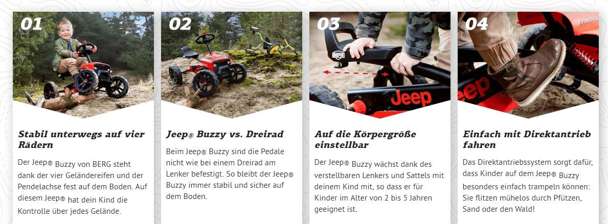BERG Buzzy Jeep – das große JEEP® ABENTEUER mit gokart-profi.de
