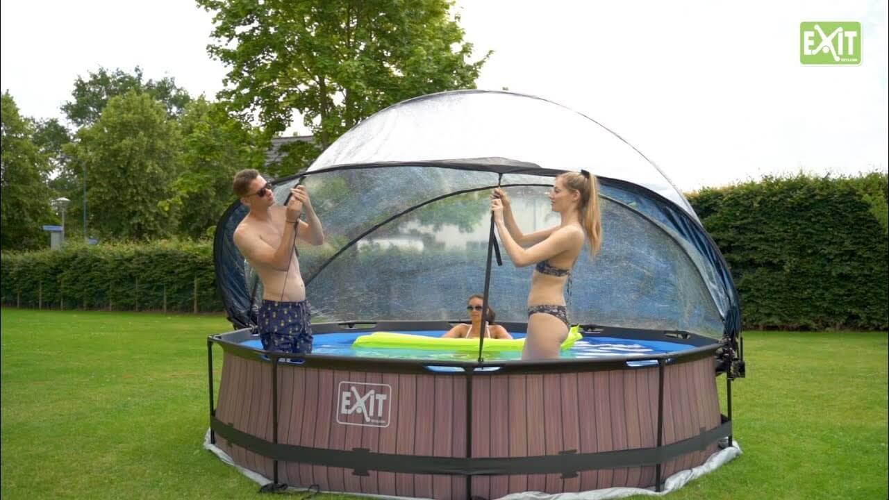 Spaß im Runden EXIT Pool - kaufen auf www.spiel-preis.de