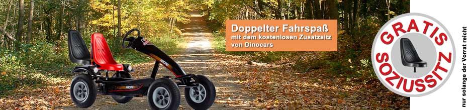 DINO Aktion - Gratis Soziussitz - jetzt bestellen bei gokart-profi.de