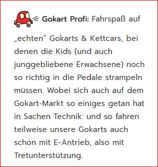 Consumenta 2019 - wir von GOKART PROFI sind in Halle 7 A - Stand C 20 zu finden