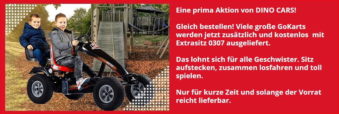 DINO CARS AKTION - jetzt bestellen bei gokart-profi.de - GRATIS SOZIUSSITZ dazu