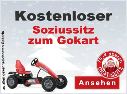 Weihnachts-Lagerverkauf - 7.12.2019 - Aktion Gratis Soziussitz zum Gokart - gokart-profi.de