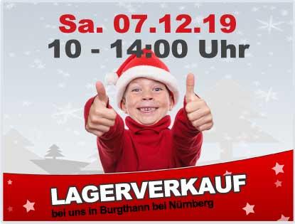 7.12.2019 - Weihnachts-Lagerverkauf mit Verlosung und Hüttengaudi bei gokart-profi.de