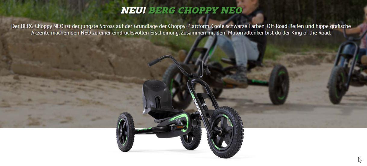 BERG Choppy Neo - ab 3 Jahren - der Hit für Kids - gokart-profi.de