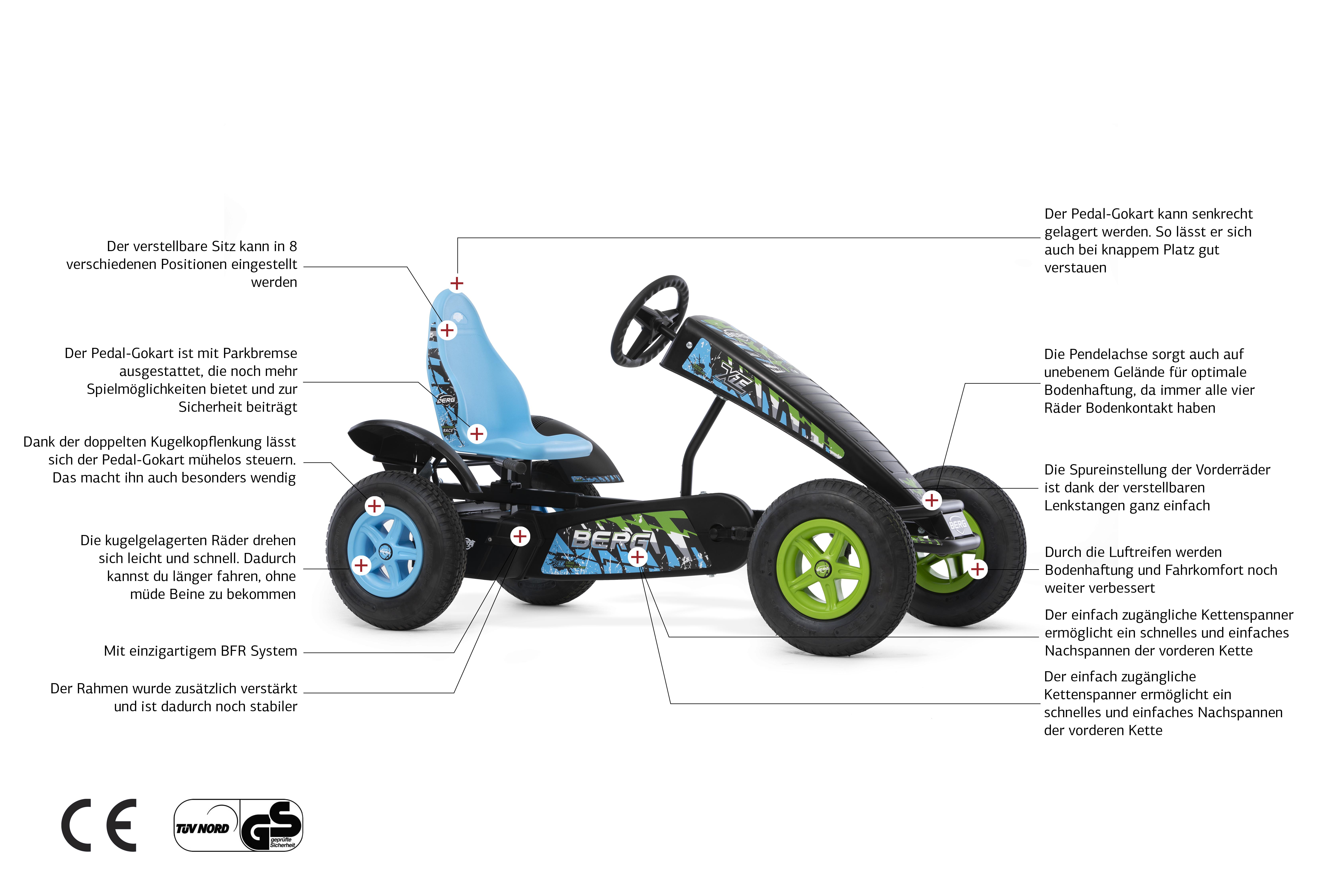 BERG X-ite – aufregend im Design + Technik - Beratung gokart-profi.de 09188-9999001