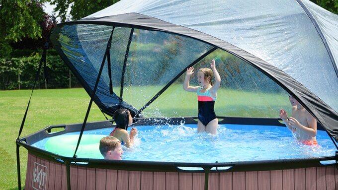 Pool Sonnendach von EXIT Toys - passend auf runde Pools - jetzt bestellen auf www.spiel-preis.de