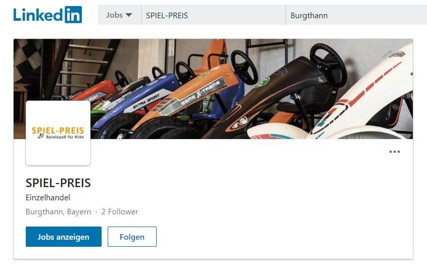 Social Media - gokart-profi.de - Firma SPIEL-PREIS - Linkedin
