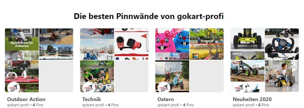 Social Media - Pinterest - gokart-profi.de