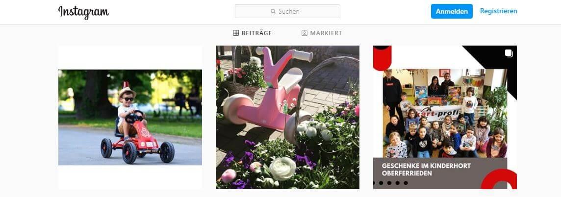 Social Media bei gokart-profi.de - Instagram - jetzt Follower werden