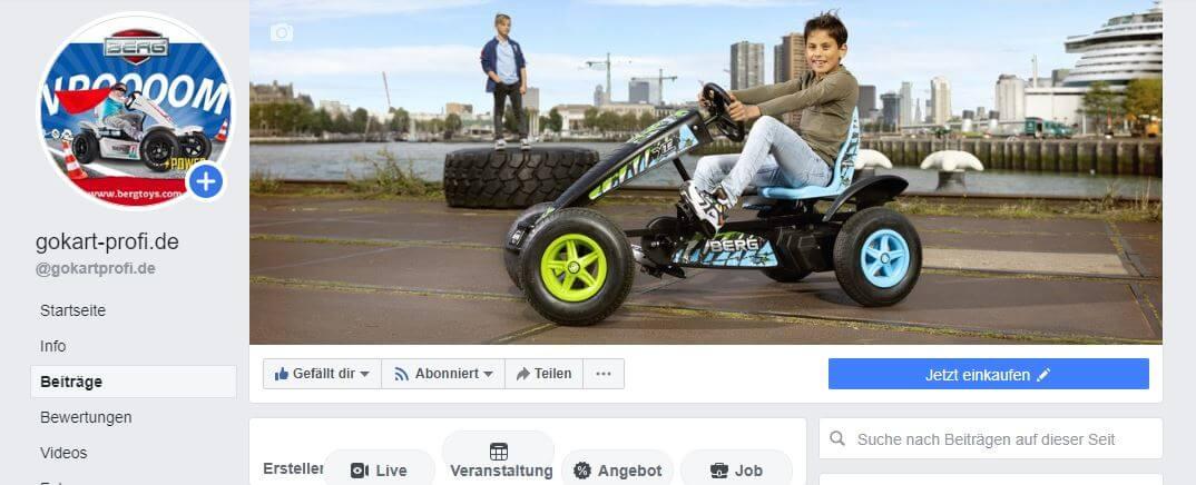 Social Media - Facebook Auftritt - gokart-profi.de
