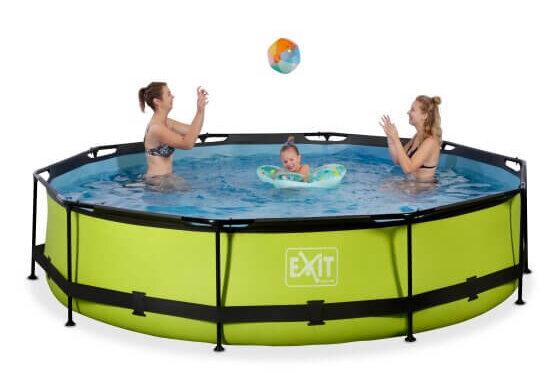 Sofort Verfügbar: EXIT Swimming Pool Ø 300 x 76 cm grün - spiel-preis.de