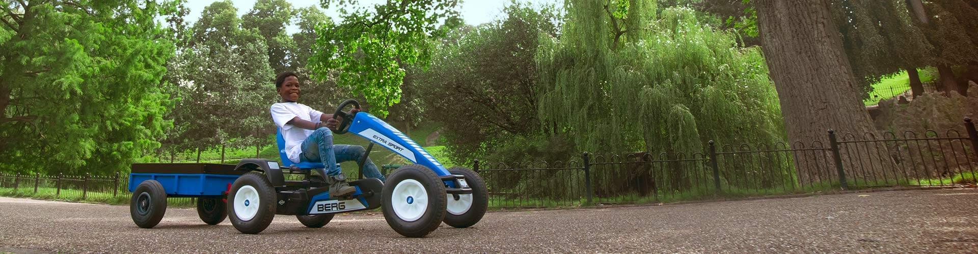 Pimp your Pedal-Gokart mit GOKART PROFI - Anhänger