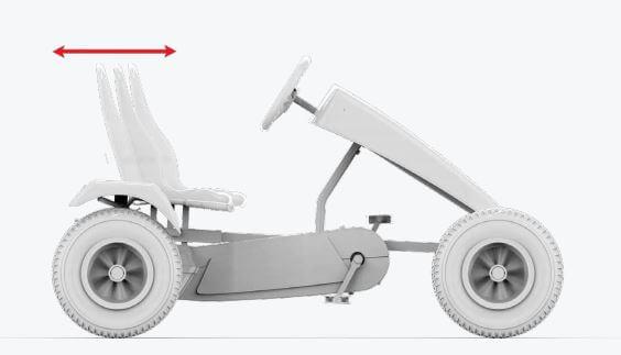 BERG Gokarts mit verschiedenen Antriebsarten - BFR-3 System - TECHNIK TIPPS gokart-profi.de - verstellbarer Sitz