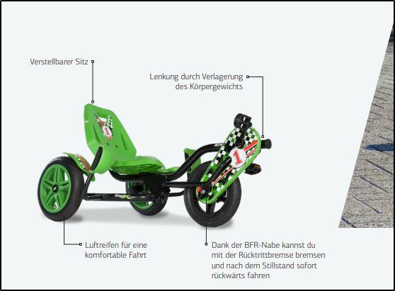 BERG Street-X - Lenkung Schaubild - gokart-profi.de