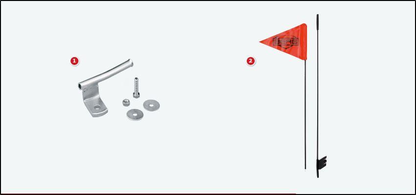 BERG Fahne + BERG Fahnenset zur Anbringung - kaufen auf gokart-profi.de