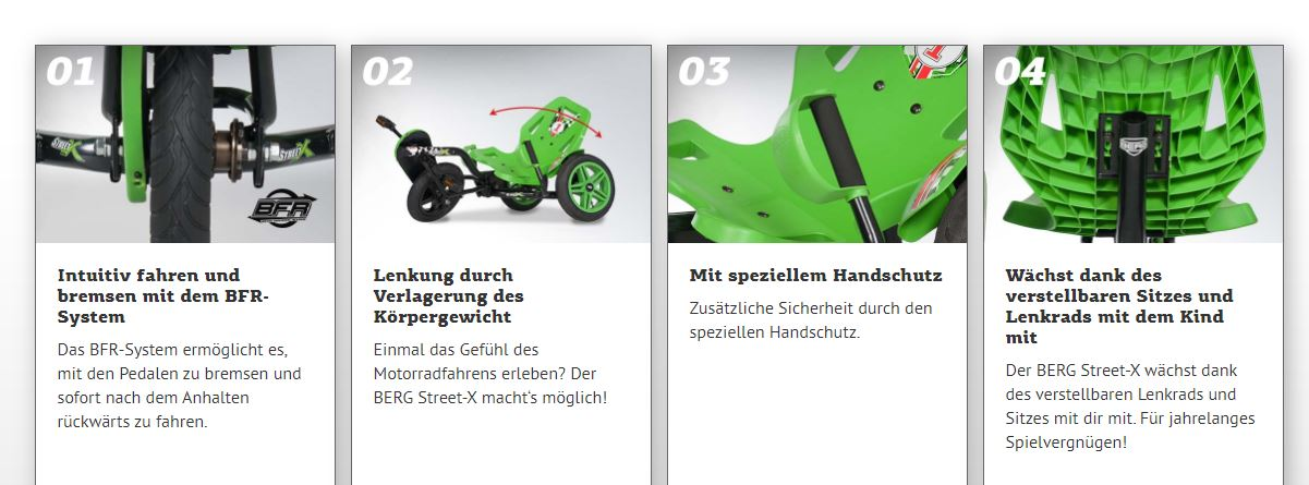 BERG Street-X - Vorteile im Überblick - gokart-profi.de