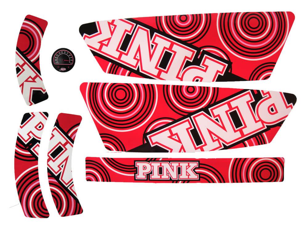 BERG Compact Pink - Stickerset - gokart-profi.de