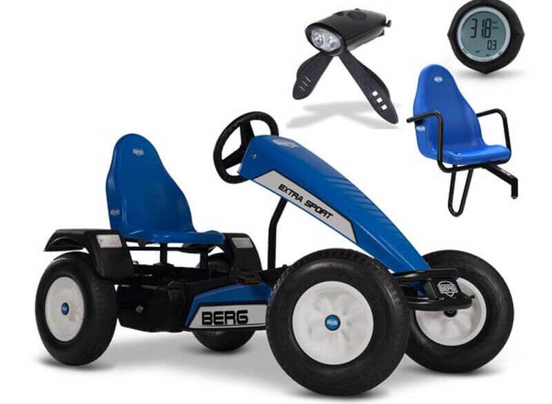 BERG Extra Sport Blau mit Zubehör Set - Top Angebot - gokart-profi.de